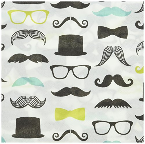 BirthdayExpress Mustache Man Lunch Napkins