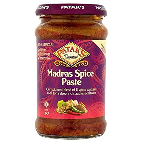 Patak's Hot Madras Curry Paste (283g) - Patak Curry Paste