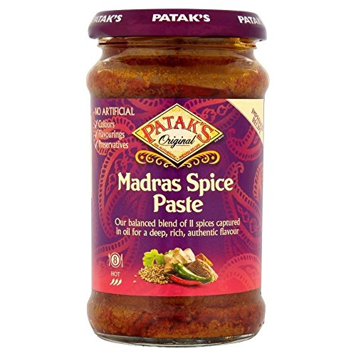 Patak's Hot Madras Curry Paste (283g) - Pack of 6 -  Groceries, PACK6-GFC018971