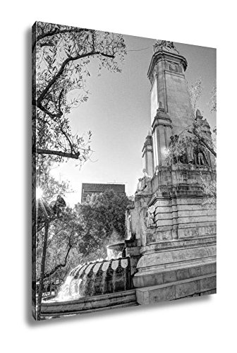 Ashley Canvas Madrid City In November Shots Of Spain Travel Europe, Wall Art Home Decor, Ready to Hang, Black/White, 20x16, AG5399101 by Ashley Canvas
