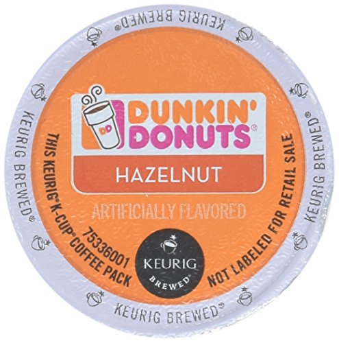 32 Count – Dunkin Donuts Hazelnut Flavored Coffee K-Cups For Keurig K Cup Brewers (2 boxes of 16 k cups)