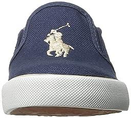 Polo Ralph Lauren Kids Victory Fashion Sneaker (Toddler), Navy/Khaki, 10 M US Toddler