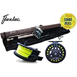 Flextec Carbon Fibre Fly Fishing Rod kit with Fly Reel Floating Line - All Sizes