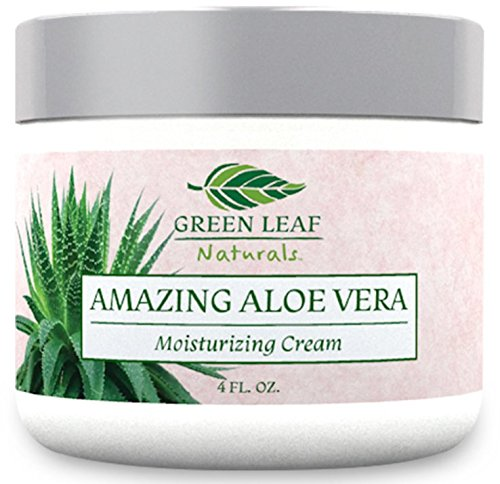 affordable Amazing Aloe Vera Moisturizing Cream for Women - All Purpose Facial Skincare for All Skin Types - Natural and Organic Ingredients - Your Anti-Aging Face Moisturizer from Green Leaf Naturals (4 oz)