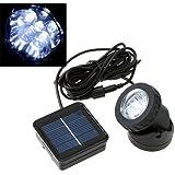 Gladle- Lampada da Giardino a energia solare, 6 LED 120mA, Spotlight Impermeabile, Esterno Yard Strada Sentiero