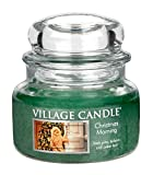 Village Candle Christmas Morning 11 oz Glass Jar Scented Candle, Small