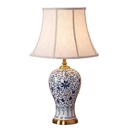 Alta temperatura esmalte mano-dibujo lámpara de mesa de ...