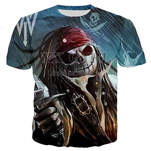Girl 3D Captain Pirate Women Men Halloween Hoodie 3D Jack Skellington Hoodies Sweatshirt Mens Womens Fashion Skull Tracksuit (Tshirt/XXL)]()
