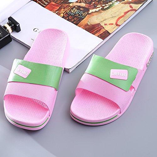 anti Stinky pantofole donne 35 pantofole Fankou e indoor in cool nbsp;Home morbido outdoor antiscivolo fondo la estate e donne balneazione uomini tra rosa piedi di zq85F