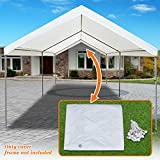 Strong Camel 10'x20' Carport Replacement Canopy Cover Tent Top Garage Shelter Cover w Ball Bungees (Only Cover, Frame is not Included)