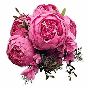 Celine lin Vintage Artificial Peony Silk Flowers Bouquets Floral Home Party Wedding Decoration DIY,Spring light rose 2