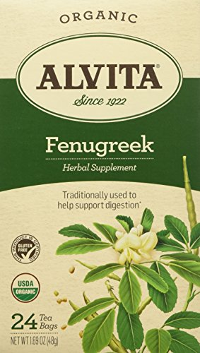 - ALVITA Fenugreek Seed Tea Bag - Organic-FENUGREEK-24 ct