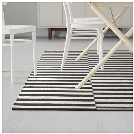 Ikea 1824 21426 2610 Alfombra Tejido Plano Rayas Negras Hechas A Mano Rayas Blancas Color Negro Y Blanco Amazon Es Juguetes Y Juegos