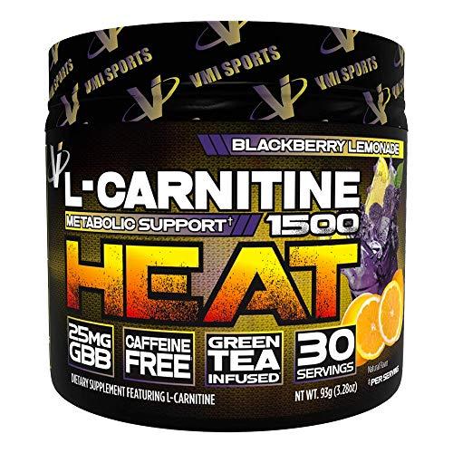 VMI Sports L-Carnitine 1500 Heat Powder, BlackBerry Lemonade, 3.28oz/93g ()
