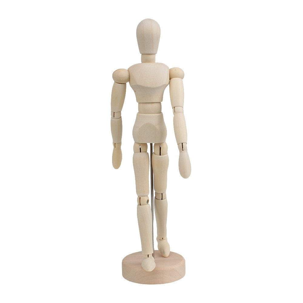 RDEXP 5.5 Inch Mini Solid Wooden Unisex Art Human Manikin Mannequin Craft Model RDEXPAM RDN118362016