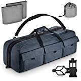 Multipurpose Telescope Bag - Shock-Absorbent Telescope Carrying Case with Adjustable Shoulder Strap and Extra Storage - Military-Grade, Water Repellent Camera Case by Rhino BagMate, 29x11x11 ft.