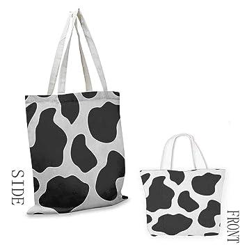 Amazon.com: Zojihouse - Bolsa de lona con estampado de vacas ...