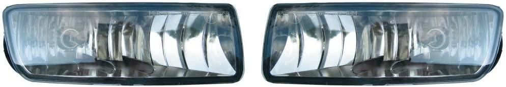 replaces 4L1Z 15201AA 4L1Z 15200AA For 2003-2006 Ford Expedition Pair Fog Lights Driver and Passenger Side FO2592215 FO2593215