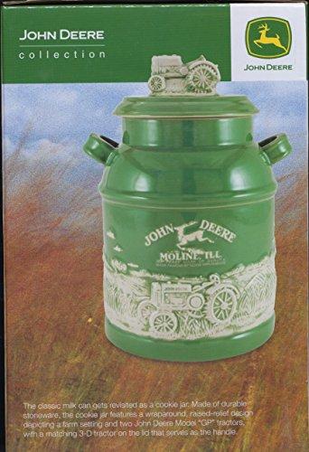 John Deere Milk Can Cookie Jar Biscuit Canister Tractor 8