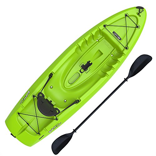 Boats Hull Tunnel (Lifetime Hydros Angler 85 Fishing Kayak (Paddle Included), Lime Green)