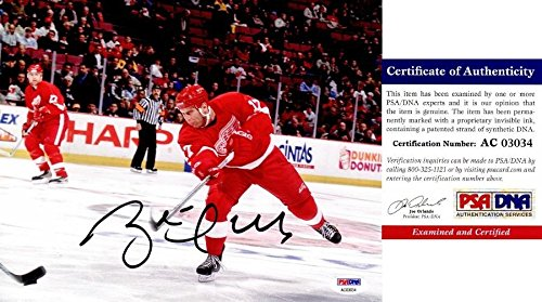 Brett Hull Signed Photo - 8x10 inch Certificate of Authenticity COA) - 2x Stanley Cup Champion 2009 Hall of Fame Inductee - PSA/DNA Certified