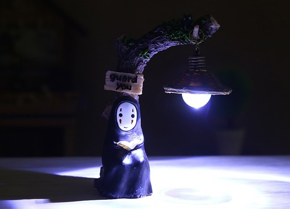 fannuoyi Spirited Away Kaonashi No Face Man Night Light Best Gift Home Decor Craft Decorative Lights (Light with Book)