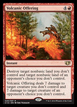 Magic: the Gathering - Volcanic Offering (040/337) - Commander 2014