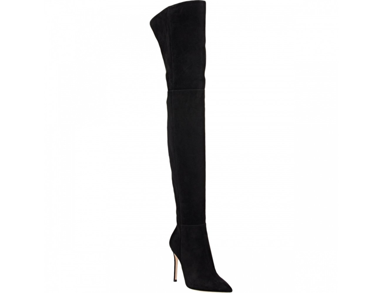 Themost Women's Pointed Toe Thigh Boots Over Knee High Boots Stretch Suede Stilettos Boots B074X9VRKB 8.5|Black