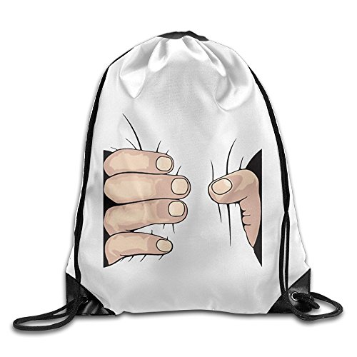 Price comparison product image Big Hand Grab Sports Bag Drawstring Backpack