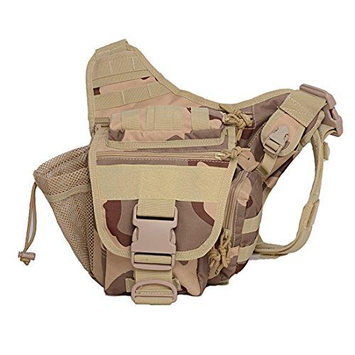 Black Hawk Commandos Multi-functional Tactical assault Messenger Bag Military Saddle Shoulder Camera Fanny Packs Versipack Outdoor (Camera Bag Saddle)