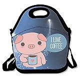 Afra Cute Pig Drinking Coffee