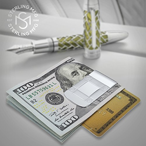 In Italy 925 Money Solid By Engravable Silver Design Wide Made and Sterling Manufacturers Clip Designed Sterling PB1qwx