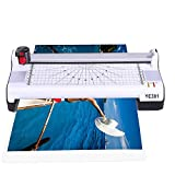 Abwei Thermal Laminator Machine for A3/A4/A6,Laminating Machine 6 in 1,2 Roller System,Rotary Trimmer,Corner Rounder,20 Laminating Pouches,Fast Warm-up,for Home and Office Use (A3 Laminator)