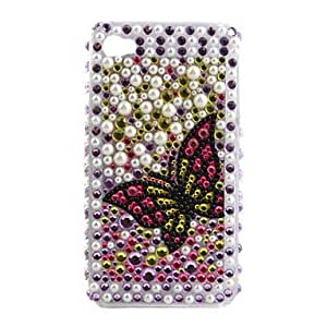 ZXSPACE Protective PVC Case with Jewel Cover for IPhone4