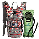 SHARKMOUTH Tactical MOLLE Hydration Pack Backpack 900D with 2L...