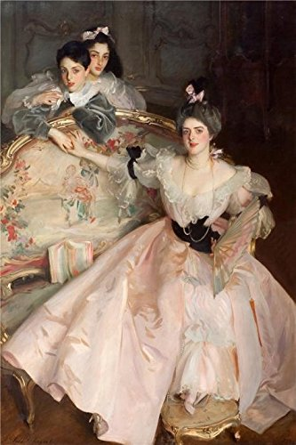 'John Singer Sargent - Mrs Carl Meyer And Her Children,1896' Oil Painting, 18x27 Inch / 46x69 Cm ,printed On High Quality Polyster Canvas ,this Cheap But High Quality Art Decorative Art Decorative Canvas Prints Is Perfectly Suitalbe For Home Office Artwork And Home Decoration And Gifts