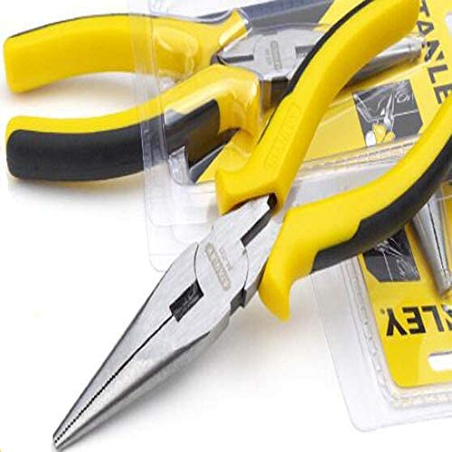 ペンチ、家の修理に適した、すなわち屋外の産業メンテナンスペンチ、多機能針鼻ペンチセット、6インチ、8インチ (Size : 6 inch 17.5*5 cm)