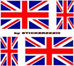 4 Union Jack decals england GB tvr MG...