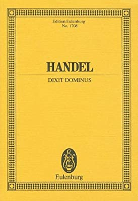 Dixit Dominus (Cranmer) Poche: Amazon.es: Georg Friedrich Hand: Libros en idiomas extranjeros