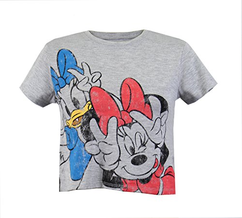 - Disney Minnie Mouse Daisy Duck Cropped Graphic Print T-Shirt Top (Medium)