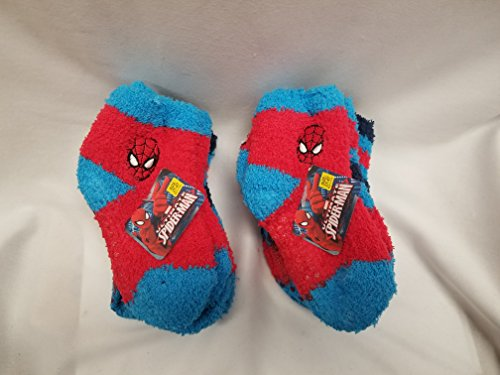 Set of 6 Marvel Spider-Man and Batman 2T-4T Cozy Slipper Socks with non-skid bottom (Diy Batman Cape)