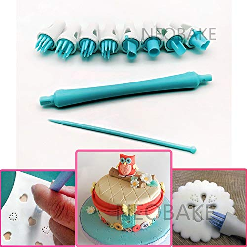 8 Patterns Fondant Cake Tool Sugar Flower Shapers Modelling tool Cakes Cupcake Decorating Modelling Craft Clays Embooser Tools