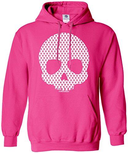 Threadrock Women's Skull Made of Skulls Hoodie Sweatshirt XL Hot Pink (Skull Pink Hoodie)