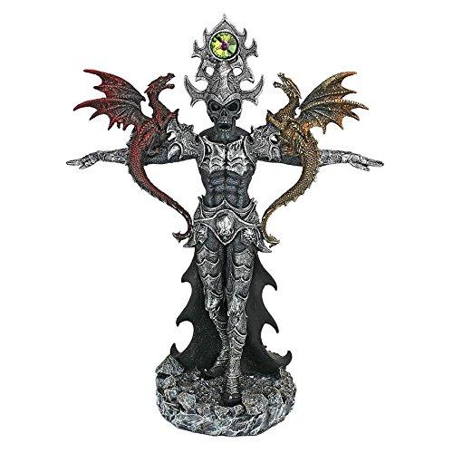 (Design Toscano QS293500 Master of The Dark Skeleton Warrior Statue, Multicolor)