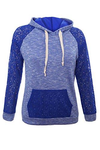 HOTAPEI Womens Pullover Sweatshirt Kangaroo