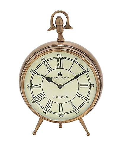 Gold Roman Numeral Desk Clock