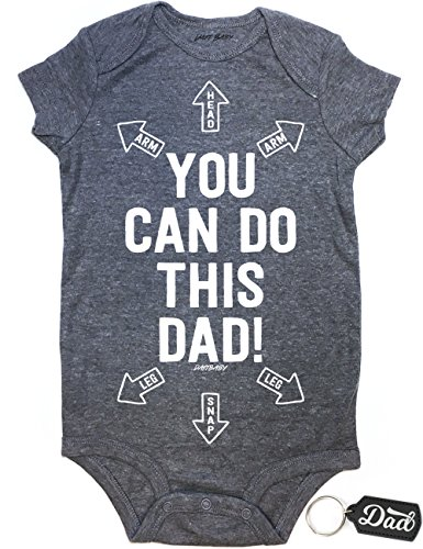 Daft Baby Onesie Dad You Can Do This Cute Funny Baby Newborn & Dad Keychain Gift