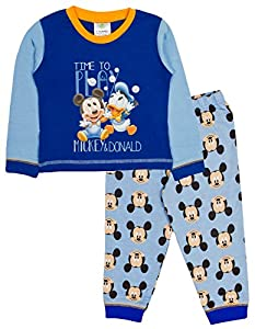 22223887116 Baby Boys Pyjamas Kids Toddlers Disney Mickey Mouse Pjs Set Size UK 6-24  Months