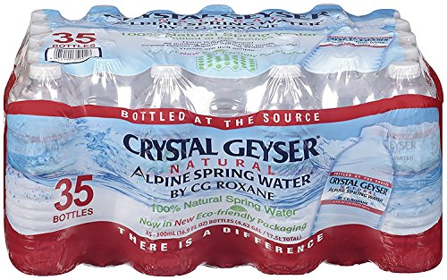 Crystal Geyser Alpine Spring Water, 16.9 oz Bottle, 35 count (2 PACK)
