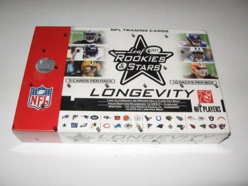 2007 Leaf Rookies & Stars Longevity Football Box (Hobby)